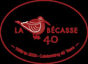 40 year anniversary - La Becasse Restaurant graphic
